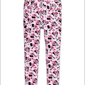H&M Disney Minnie Mouse Pink Girls Jeggings